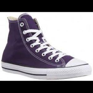 👟 Purple Converse Hi-Tops👟